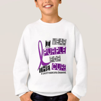 LEIOMYOSARCOMA I Wear Purple For The Cure 37 Sweatshirt