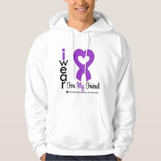 Leiomyosarcoma I Wear Purple Ribbon For My Friend Hoodie