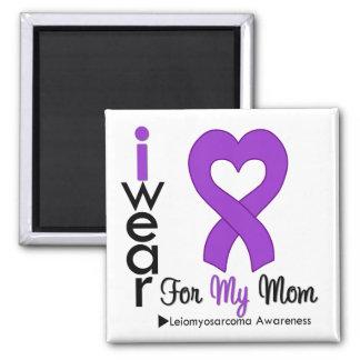 Leiomyosarcoma I Wear Purple Ribbon For My Mom 2 Inch Square Magnet