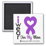 Leiomyosarcoma I Wear Purple Ribbon For My Mom Fridge Magnet