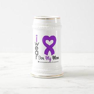 Leiomyosarcoma I Wear Purple Ribbon For My Mom Coffee Mug
