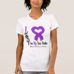 Leiomyosarcoma I Wear Purple Ribbon For My Twin Br T Shirts
