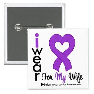 Leiomyosarcoma I Wear Purple Ribbon For My Wife Pinback Button