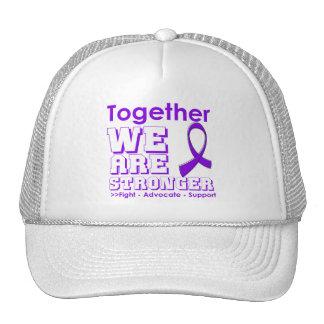 Leiomyosarcoma juntos somos más fuertes gorros bordados
