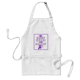 Leiomyosarcoma Keep Calm and Carry On Adult Apron