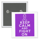 Leiomyosarcoma Keep Calm and Fight On Pinback Button