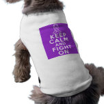 Leiomyosarcoma Keep Calm and Fight On Dog T-shirt
