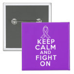 Leiomyosarcoma Keep Calm and Fight On Pin