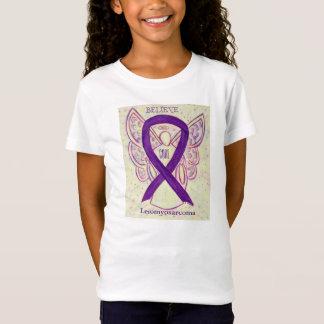 Leiomyosarcoma (LMS) Awareness Ribbon Angel Shirt