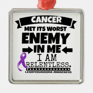 Leiomyosarcoma Met Its Worst Enemy in Me Metal Ornament