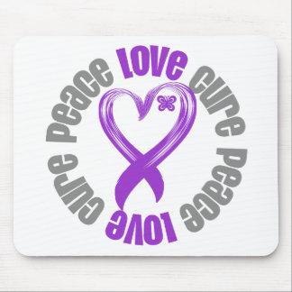 Leiomyosarcoma Peace Love Cure Ribbon Mousepad