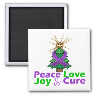 Leiomyosarcoma Peace Love Joy Cure 2 Inch Square Magnet