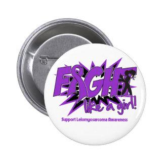 Leiomyosarcoma POW Style Fight Like A Girl 2 Inch Round Button