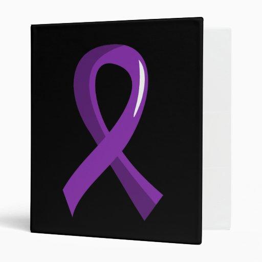 Leiomyosarcoma Purple Ribbon 3 3 Ring Binder