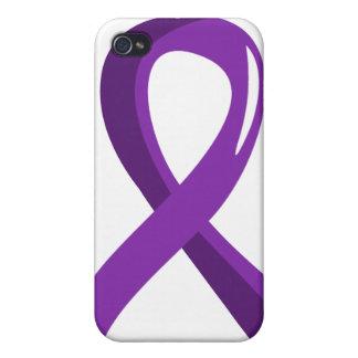 Leiomyosarcoma Purple Ribbon 3 Case For iPhone 4