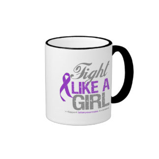 Leiomyosarcoma Ribbon - Fight Like a Girl Mugs