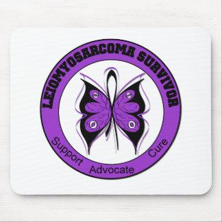 Leiomyosarcoma Survivor Butterfly Mouse Mats