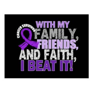 Leiomyosarcoma Survivor Family Friends Faith Postcard