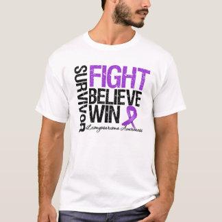 Leiomyosarcoma Survivor Fight Believe Win Motto T-Shirt
