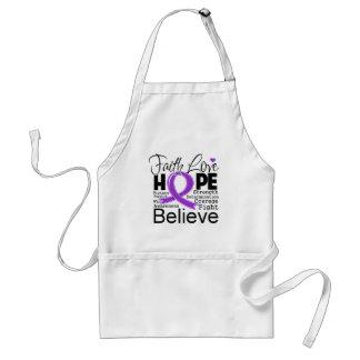 Leiomyosarcoma Typographic Faith Love Hope Apron