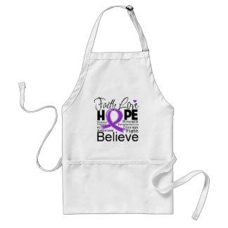 Leiomyosarcoma Typographic Faith Love Hope Aprons