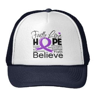 Leiomyosarcoma Typographic Faith Love Hope Trucker Hat