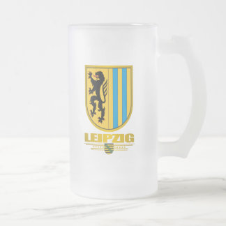 Leipzig Frosted Glass Beer Mug