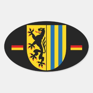 Leipzig Germany Euro-style Oval Sticker