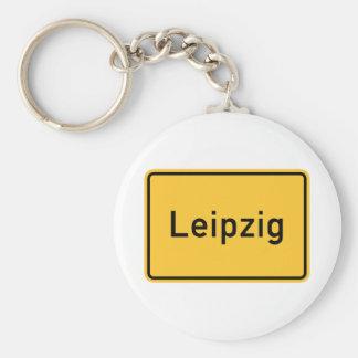 Leipzig, Germany Road Sign Key Chains