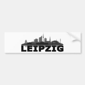 Leipzig town center of skyline - bumper sticker