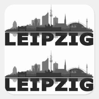 Leipzig town center of skyline stickers