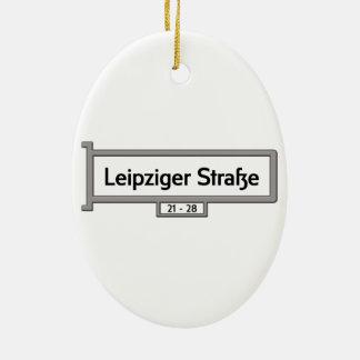 Leipziger Strasse, placa de calle de Berlín Adorno Ovalado De Cerámica