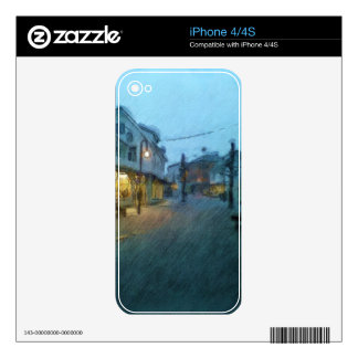 Leirvik pedestrian zone skins for iPhone 4