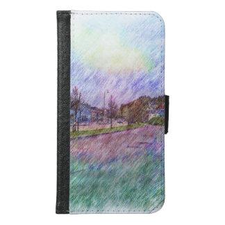 Leirvik photo drawing samsung galaxy s6 wallet case