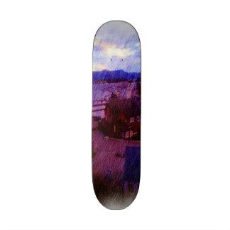 Leirvik photo painting skateboard
