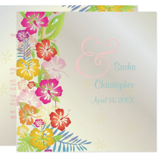 LEIS/LUAU/HIBISCUS WEDDING INVITATIONS