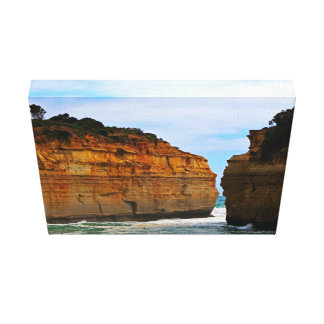 Leisure Themed, Two Cliffs Face Each Other Separat Canvas Print