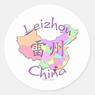 Leizhou China Pegatina Redonda