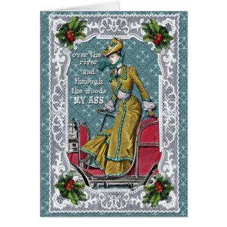 Lejos en el navidad tarjeta de felicitación