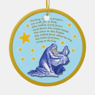 Lejos en un ornamento del navidad del día de adorno navideño redondo de cerámica