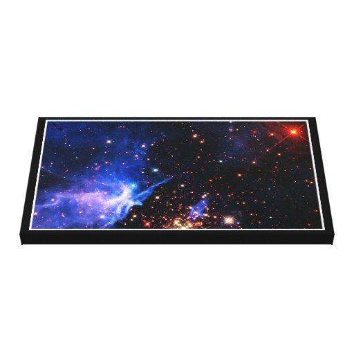 Lejos galaxia impresión en lienzo