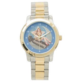 LEJOS/vintage/oro y reloj de las BOMBAS del tono