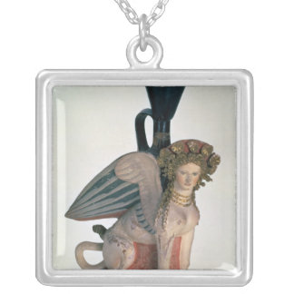 Lekythos in the form of a Sphinx Silver Plated Necklace