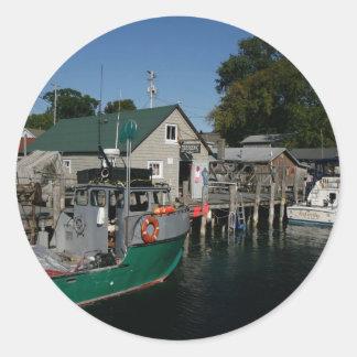 Leland Fishtown Classic Round Sticker