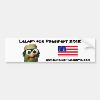 Leland para el presidente etiqueta de parachoque