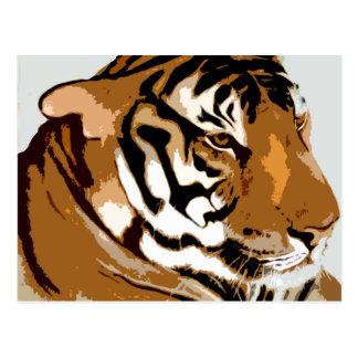 lele tiger merchandise postcard