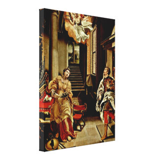 Lelio Orsi - The St Cecilia and St Valerian Canvas Prints