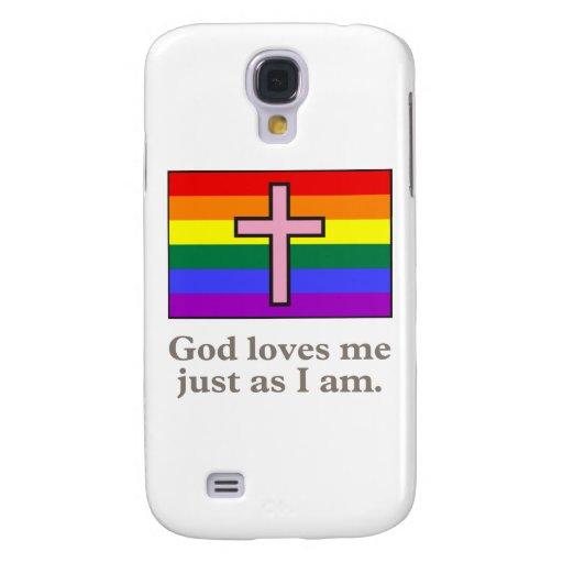 Lema cristiano gay de la bandera funda para galaxy s4