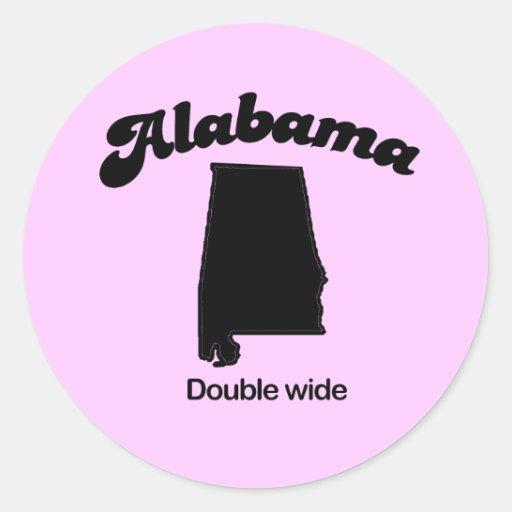 Lema de Alabama - ancho doble Pegatina Redonda