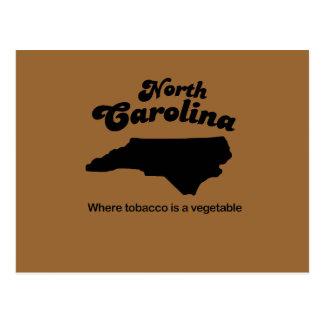 Lema de Carolina del Norte donde está una verdura  Tarjeta Postal